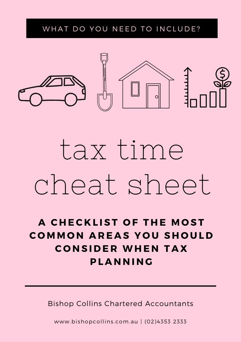 tax time cheat sheet